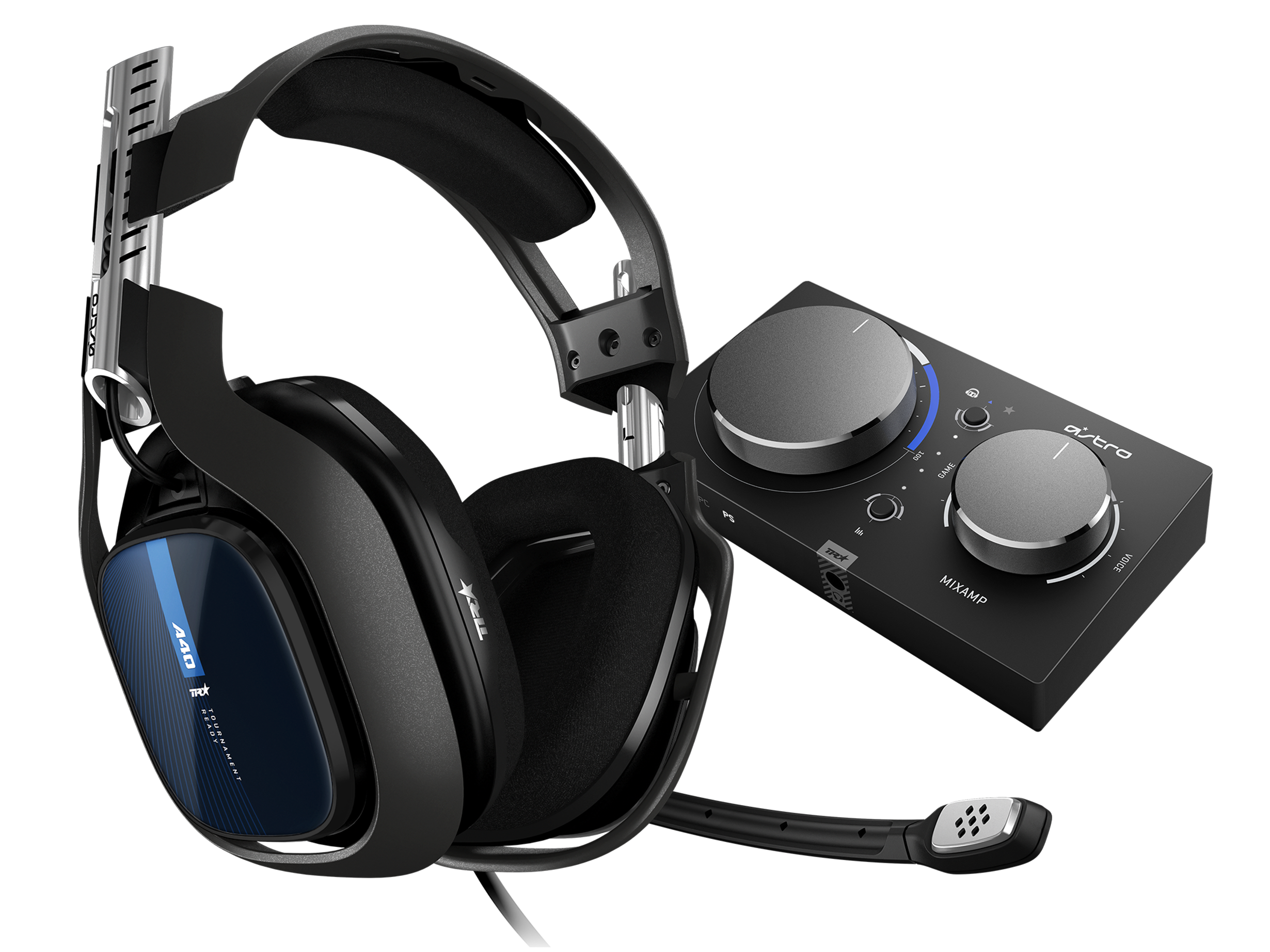 ASTRO Gaming Refurbished A40 TR Headset + MixAmp Pro TR - Black/PS4